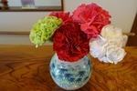 第4週、玄関の花