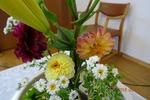 第4週、講壇の花