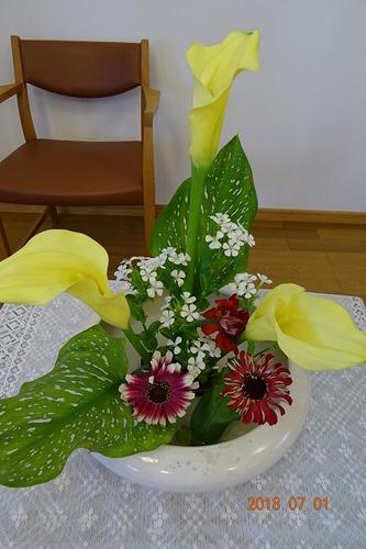 7月第一週 講壇の花