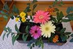 秋の講壇の花