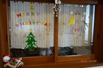 クリスマス 台所 小窓