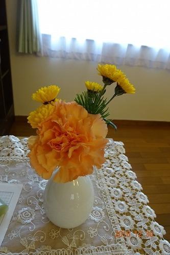 元旦礼拝 受付 花