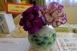 受付の紫の花