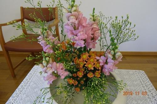 11月 講壇の花