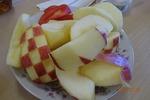 祝会 飾り切りリンゴ