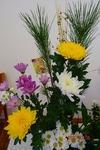 講壇の花 正月