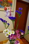 玄関の花 迎春