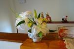 玄関 お花