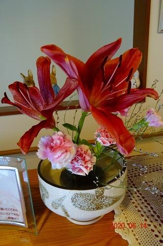 6月14日 玄関の花