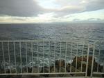台風の後の海