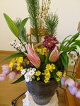 元日に向けて、花の準備