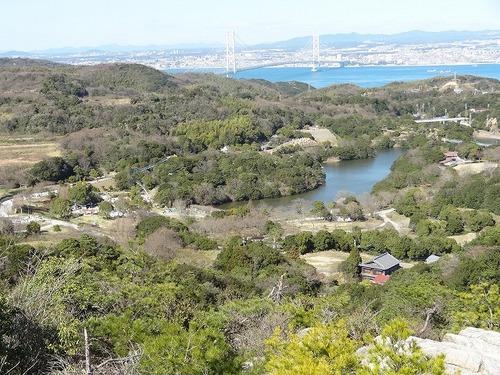 県立公園の展望台