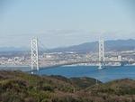 明石海峡大橋も見えます