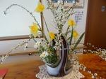玄関の花 新しい花瓶