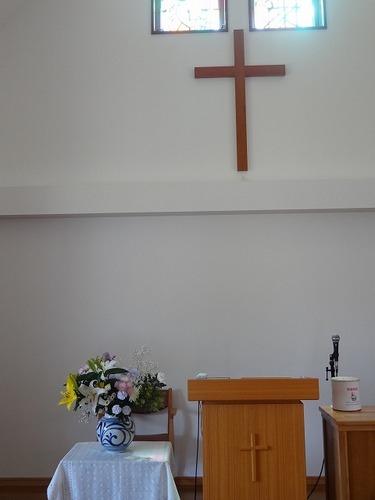 礼拝後の講壇