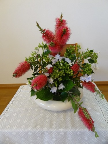 第4週の講壇の花