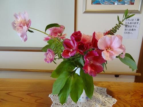 第4週の玄関の花