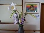 7月最終週の玄関の花