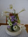 7月最終週の講壇の花