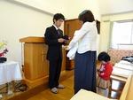 子ども祝福の祈り、献児式
