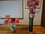 1月末 玄関の花