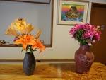 玄関の花・花