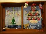 クリスマス飾り 玄関(台所の窓)