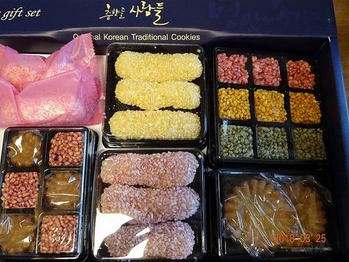 第4週 昼食交わり会 差し入れの韓国土産お菓子